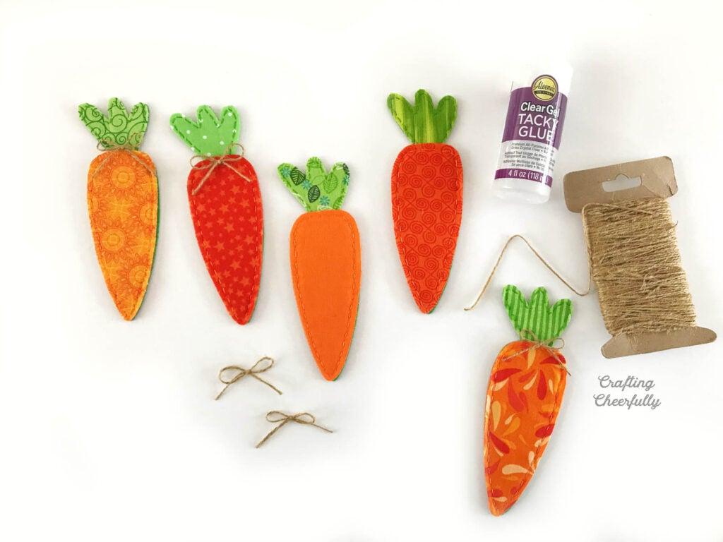Rustic Carrot Burlap Banner Carrot flag banner Carrot garland