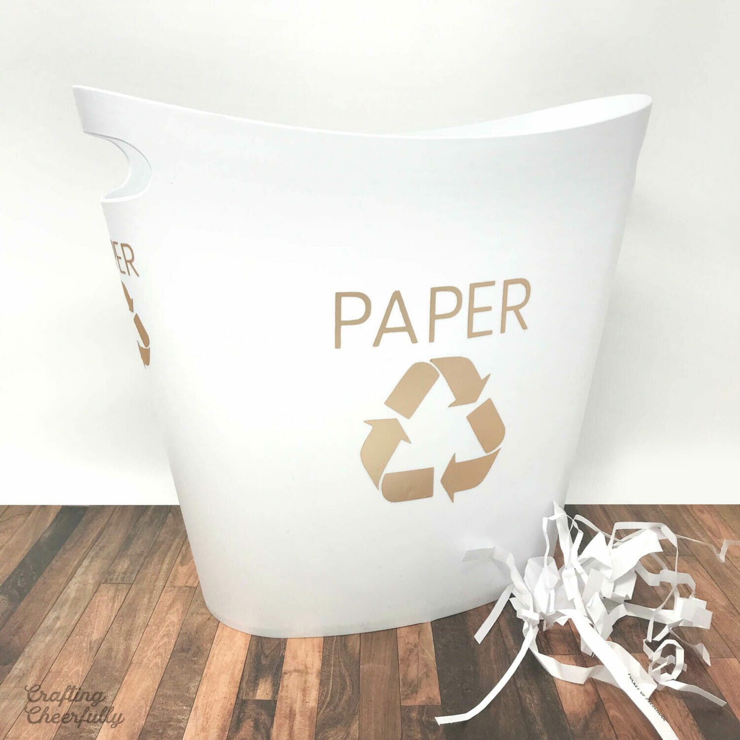 DIY Recycle Bin with Adhesive Foil