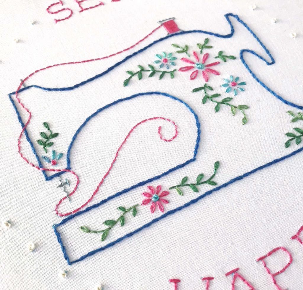 Sew Happy Embroidery Pattern by Lolli and Grace