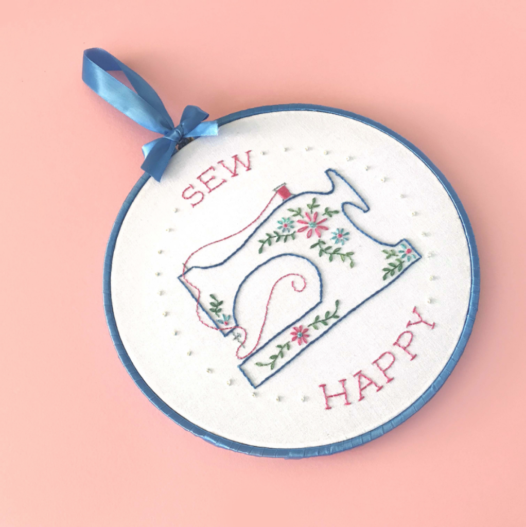 Sew Happy Embroidery Pattern by Lolli & Grace