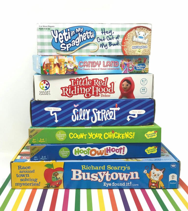 10 Fun Board Games for Preschoolers!