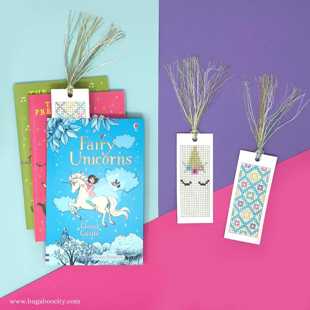 DIY Unicorn Cross Stitch Bookmarks - Free Pattern