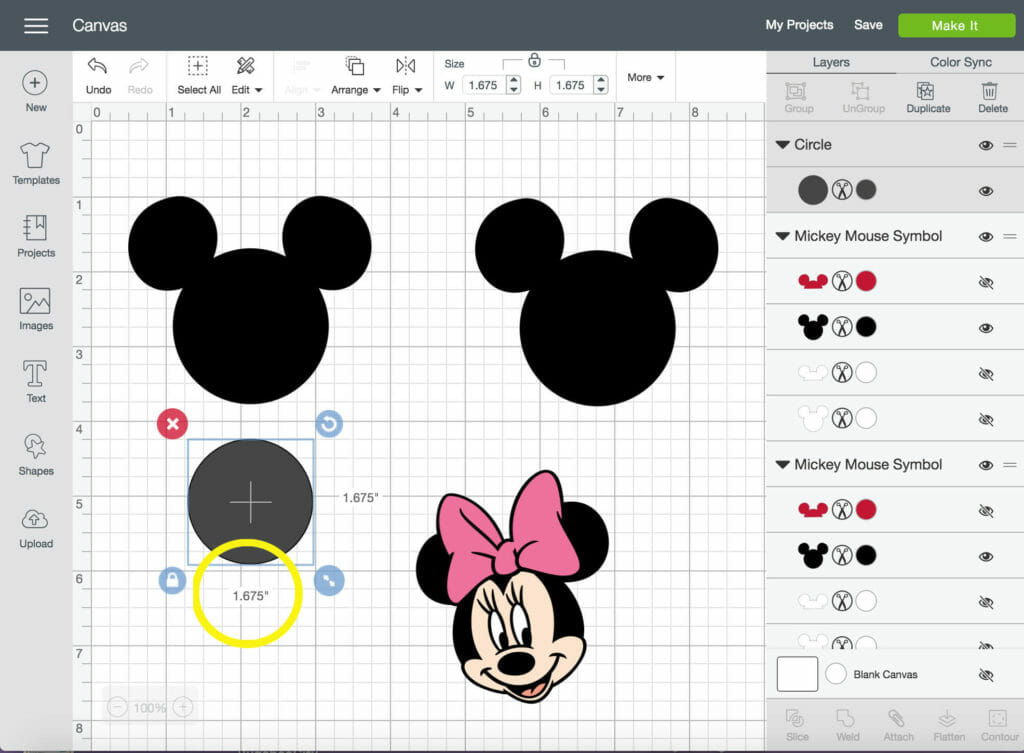 Diy Mickey And Minnie Mouse Magnets With Cricut Design Space Crafting Cheerfully