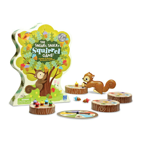 10 Fun Board Games for Preschoolers - The Sneaky, Snacky Squirrel Game