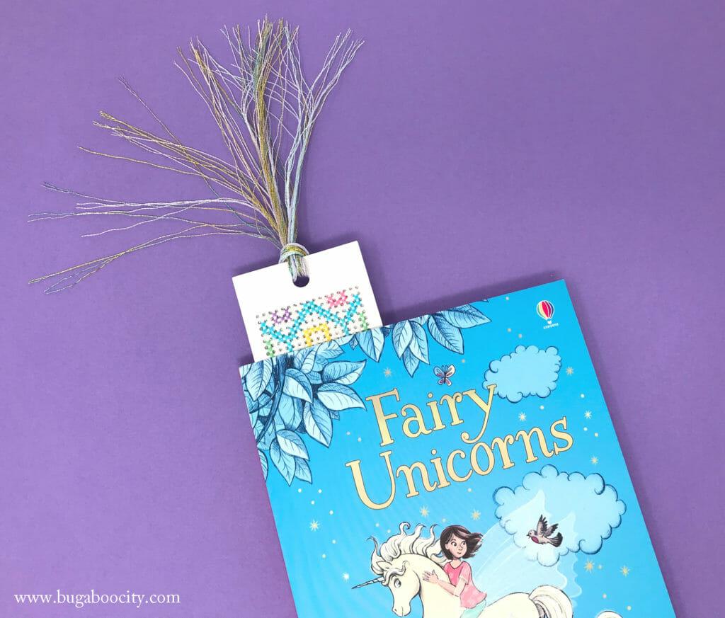 DIY Unicorn Cross-Stitch Bookmarks - Free Pattern