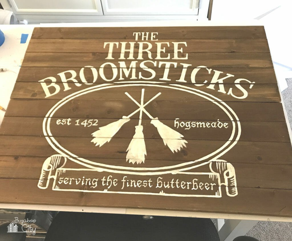 DIY Harry Potter Three Broomsticks Sign - Wedding Decor