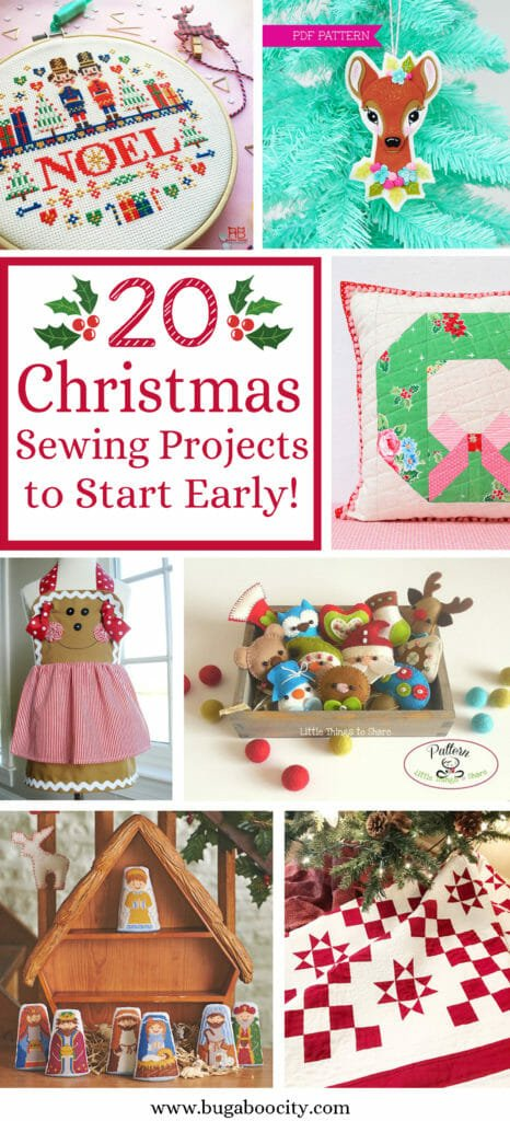 20 Christmas Sewing Projects to Start Early!