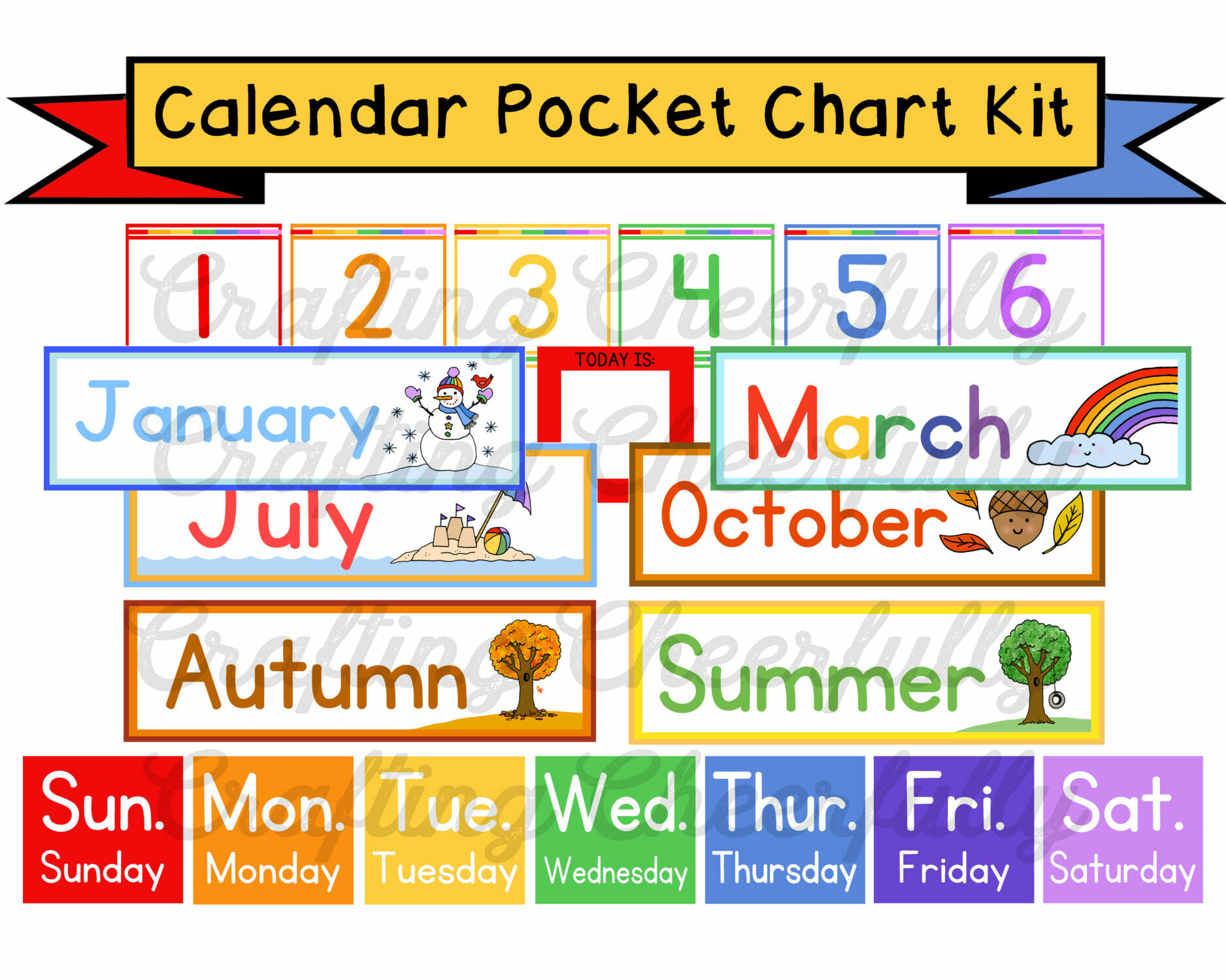 Pocket Chart Calendar Kit