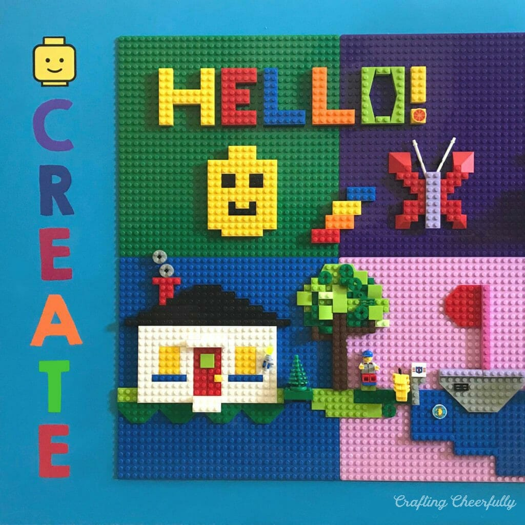 How to Make a LEGO Wall and DIY Makerspace!