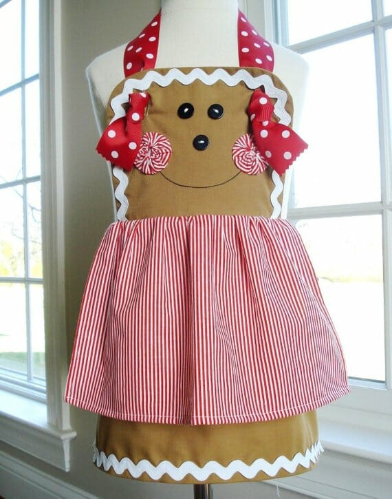 Gingerbread Girl Christmas Apron by Precious Patterns