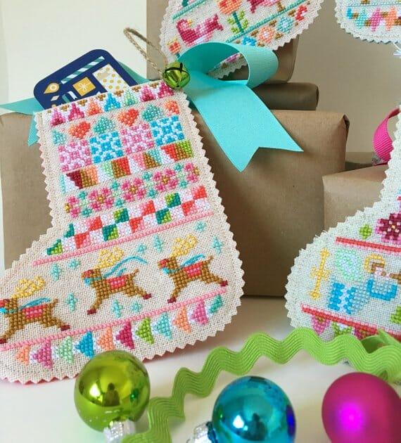 Mini Stocking Cross Stitch Patterns by Satsuma Street