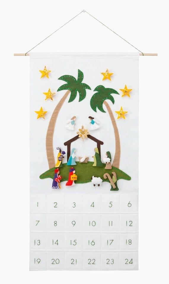 Nativity Advent Calendar by Sugar House Shop