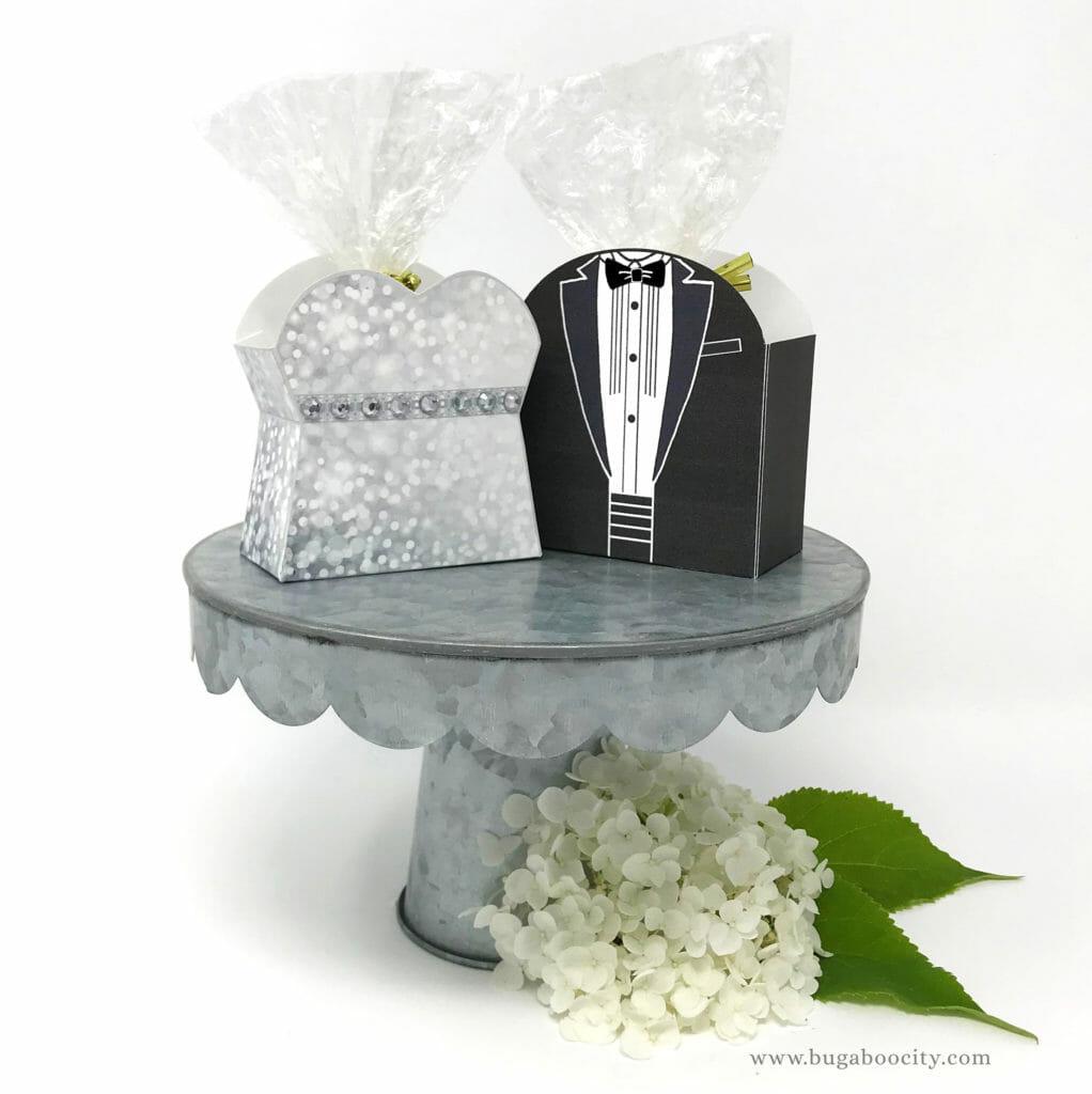 DIY Menswear Groom Treat Boxes, Tuxedo Treat Boxes