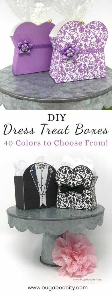 DIY Dress Treat Boxes Wedding Bridal Shower Favors
