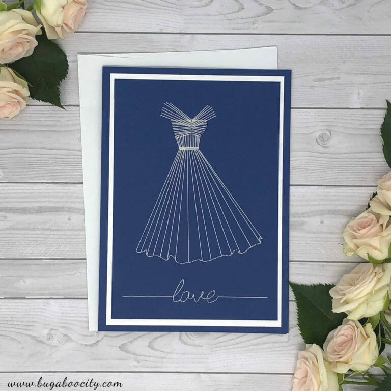 DIY Embroidered Dress Card