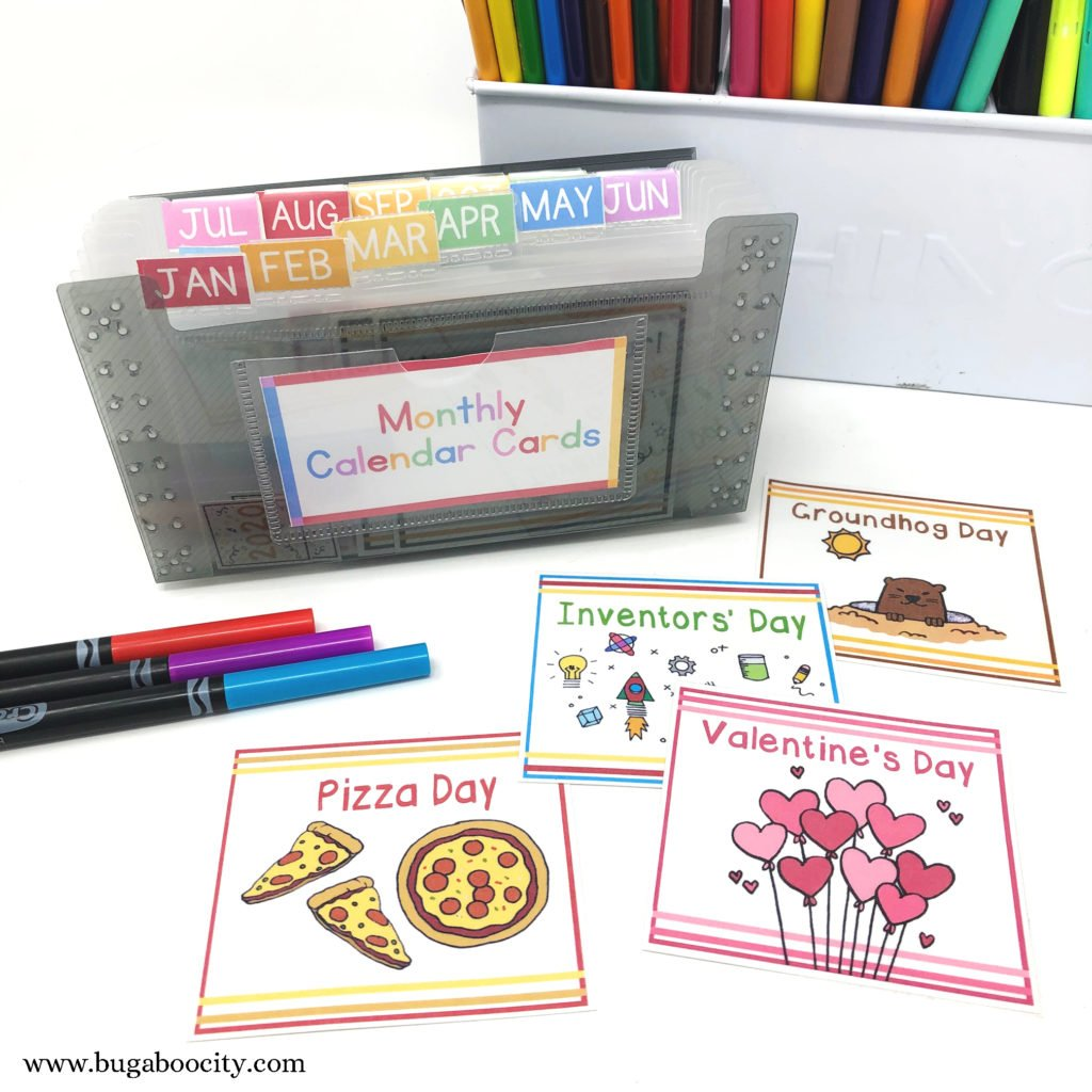 Organizing Your Children's Calendar - Free Printable Labels