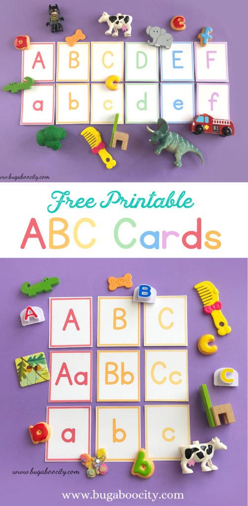 Free Printable ABC Cards by BugabooCity
