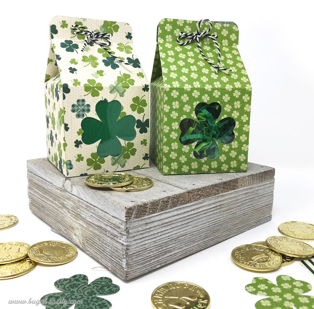 St. Patrick's Day Four Leaf Clover Treat Boxes