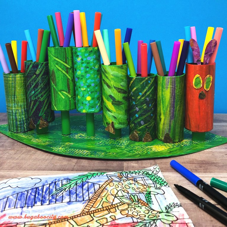 Hungry Caterpillar Craft – DIY Marker Holder