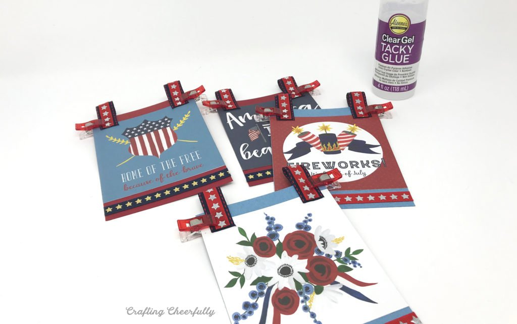 DIY Fourth of July Paper Banner paper craft