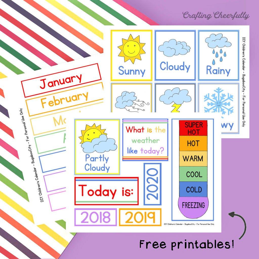 DIY Children's Calendar Cards - Holidays, Activities, School and More!