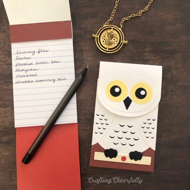 DIY Hedwig Owl Notepads