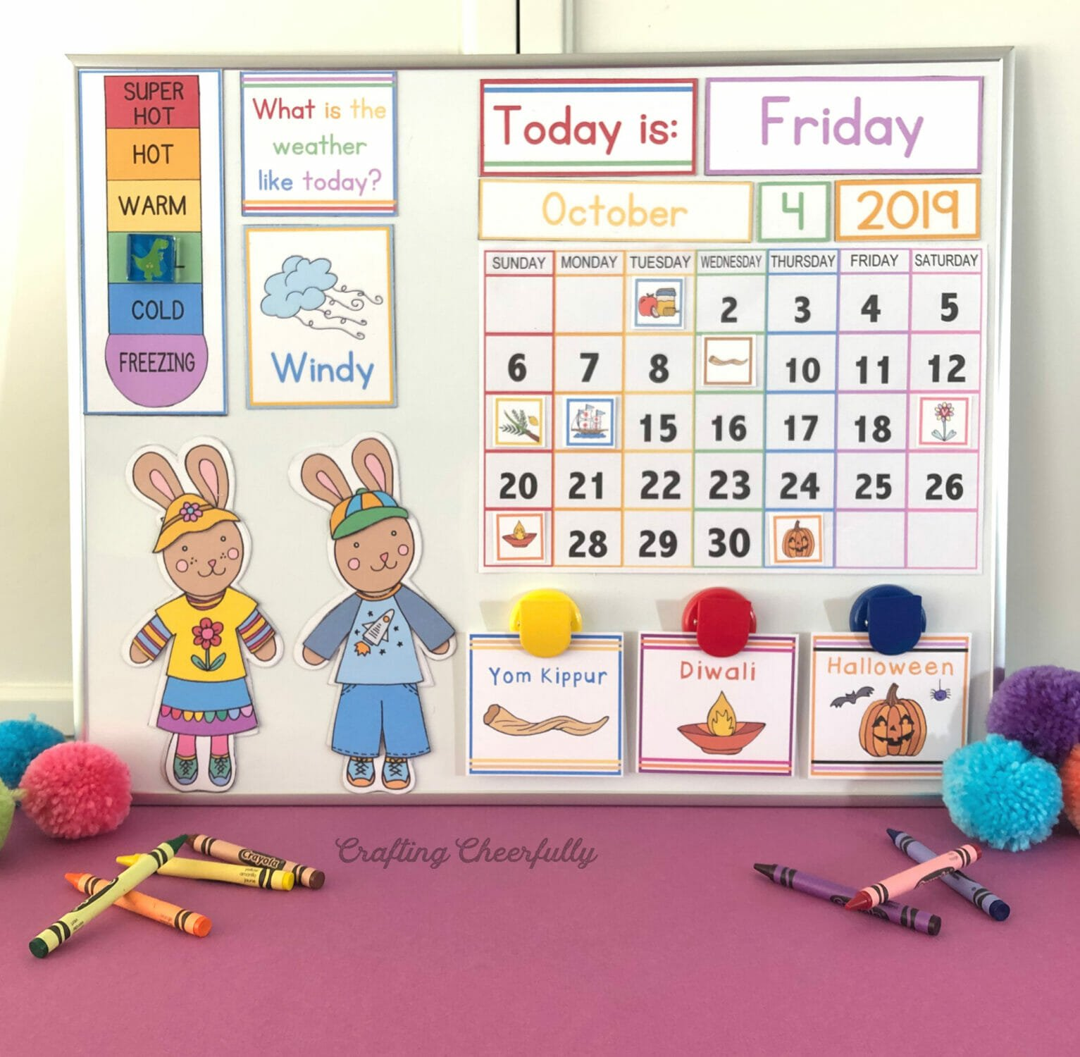 DIY Children's Calendar with holiday cards