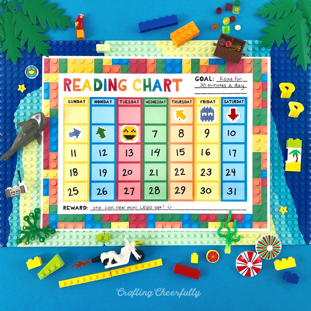 Free Printable LEGO-Themed Reading Chart