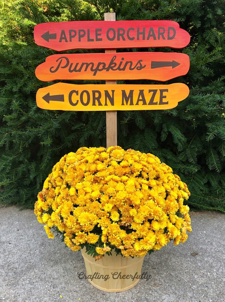 DIY Autumn Ombre Sign