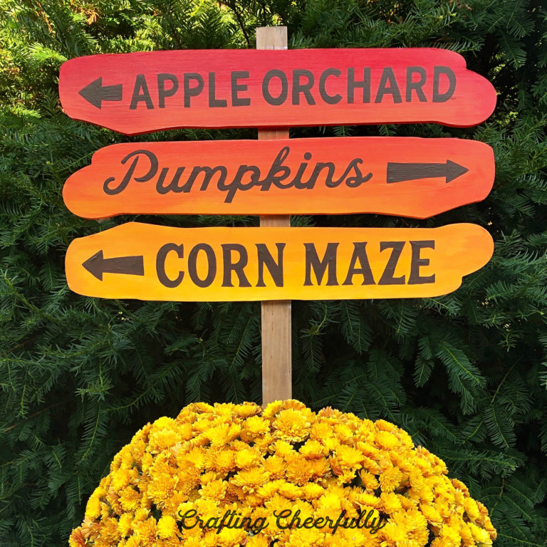 DIY Autumn Ombre Sign – Using the Pencil Transfer Method
