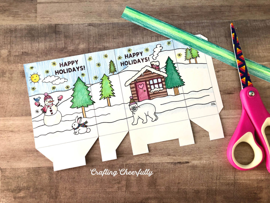 Color-Your-Own Holiday Gift Bag - Free Printable!!