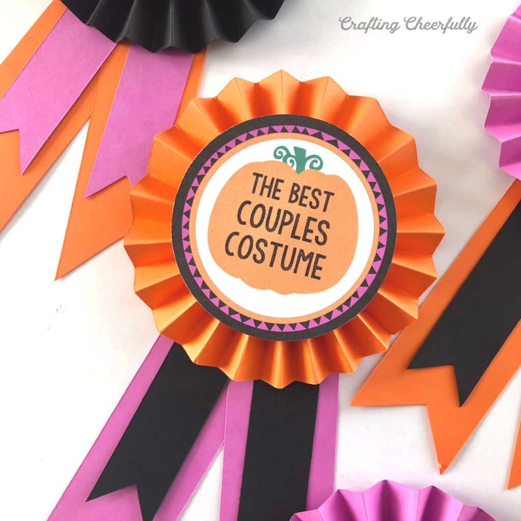 DIY Halloween Costume Contest Award Ribbons