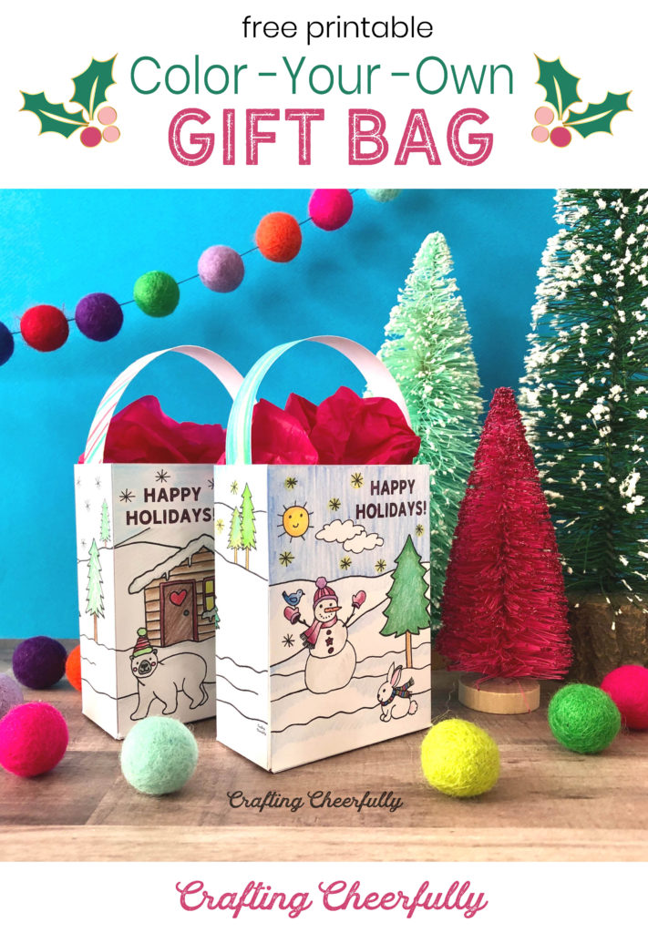 Color-Your-Own Gift Bag Free Printable