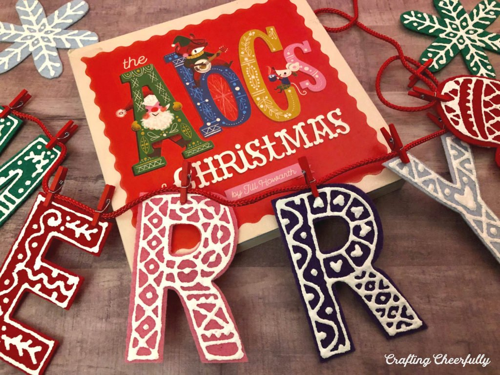 DIY Holiday Banner with Felt and Puffy Paint