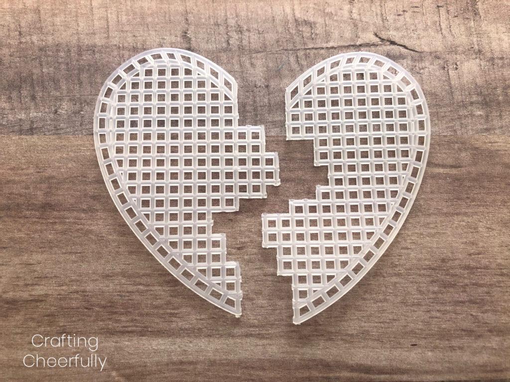 DIY Best Friend Necklaces - Stitched Plastic Canvas