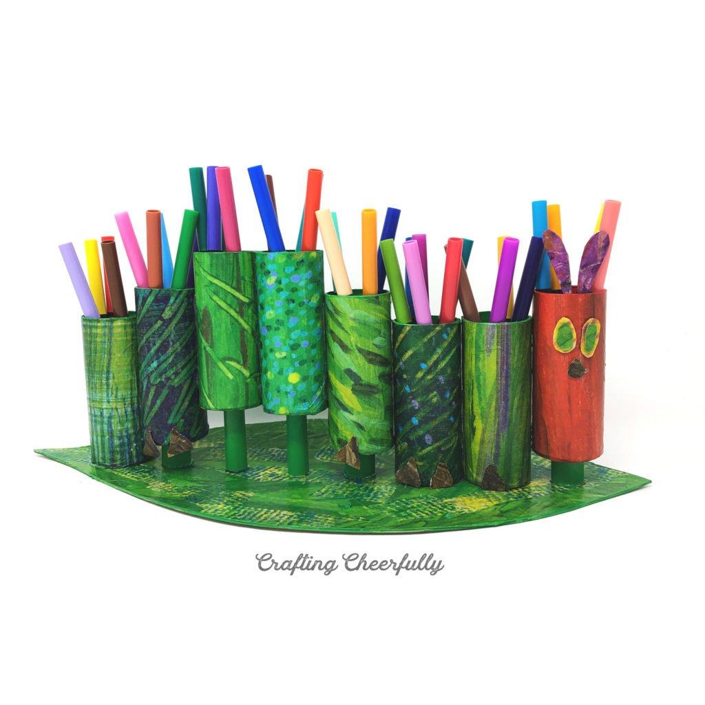 DIY Hungry Caterpillar Marker Holder