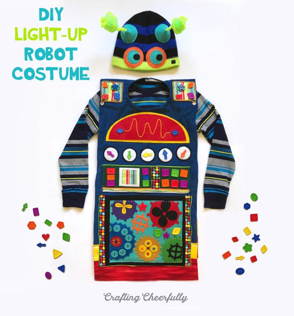 DIY Light Up Robot Costume
