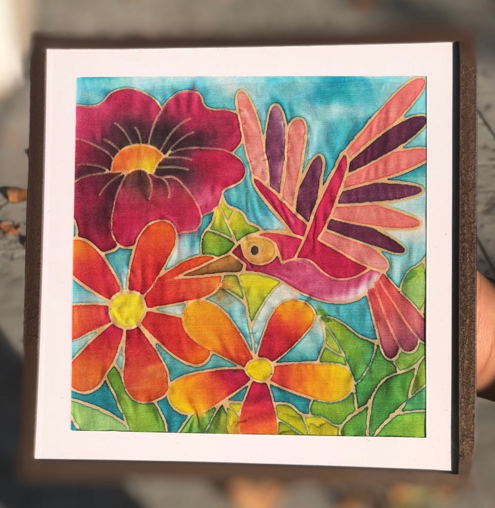 Color Cruiser Batik Hummingbird Fabric Painting Kit