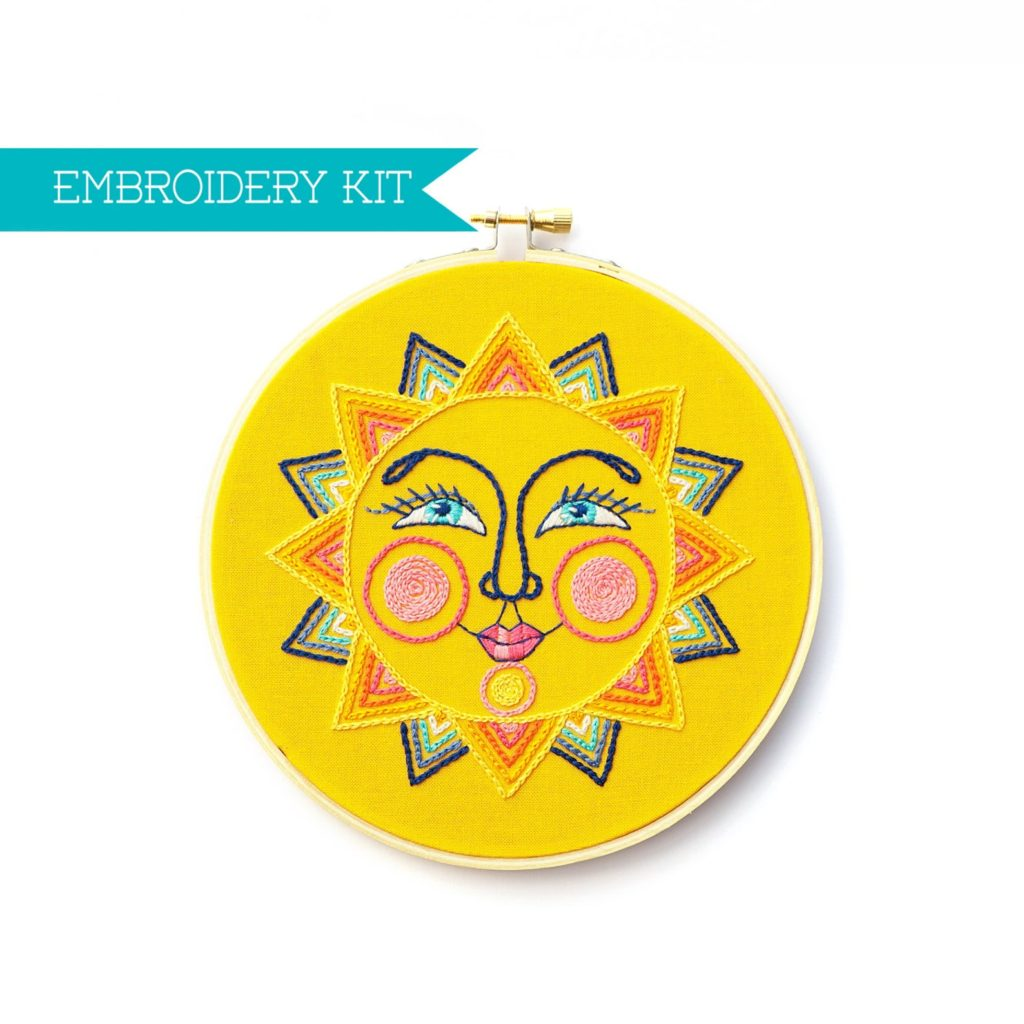 Lolli and Grace Sun Face Embroidery Kit
