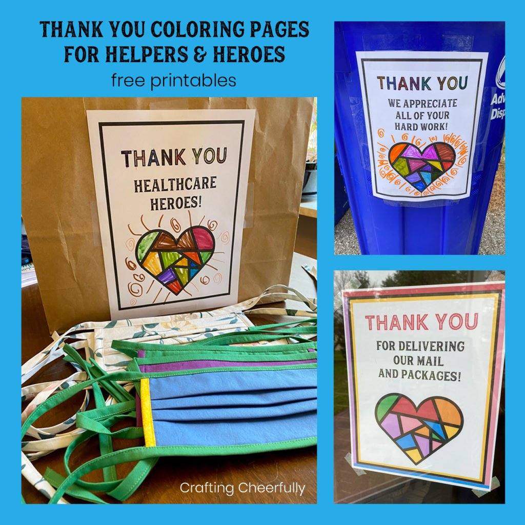 Thank You Coloring Pages for Helpers and Heroes