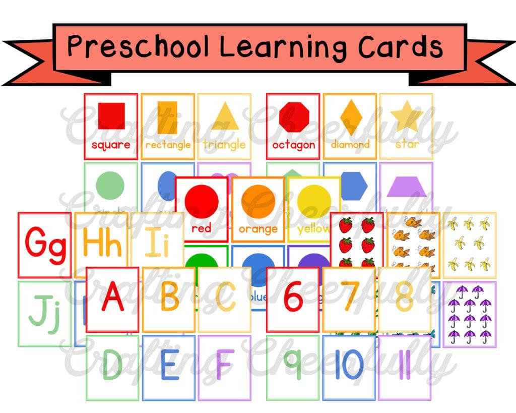 Preschool Learning Cards