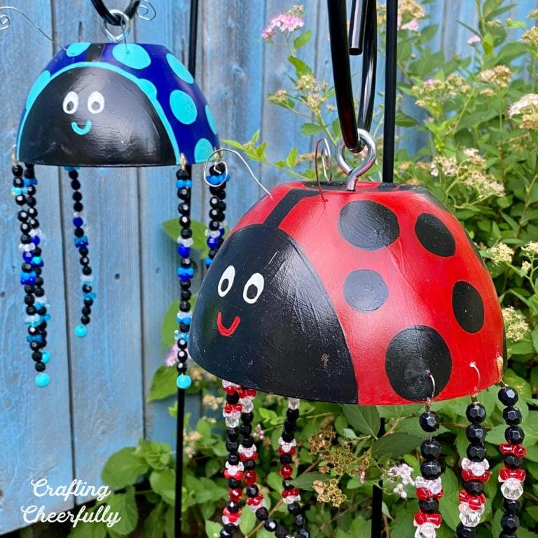 DIY Ladybug Garden Art