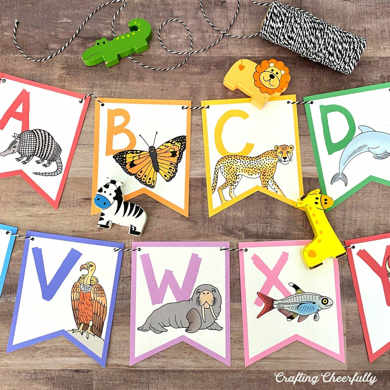 Colorful Animal ABC banner
