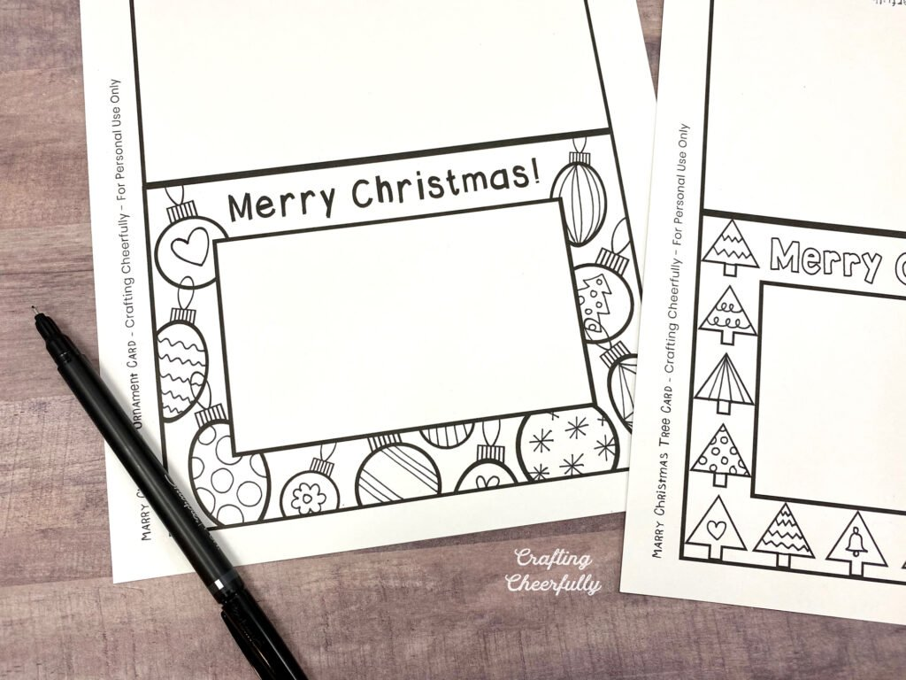 Free Printable Holiday Coloring Cards Crafting Cheerfully