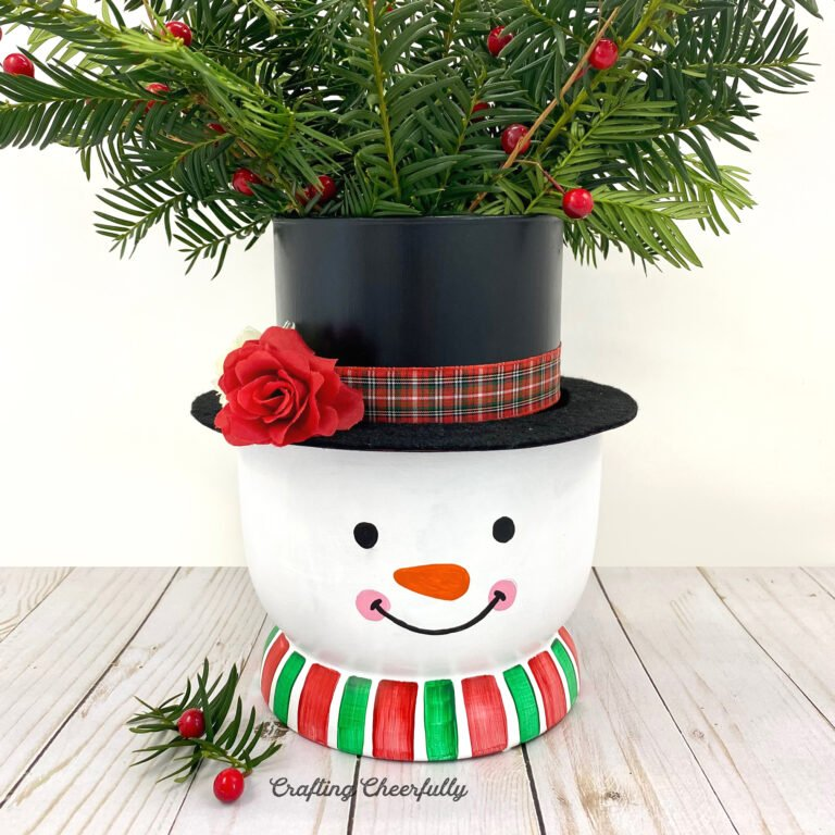 DIY Snowman Vase