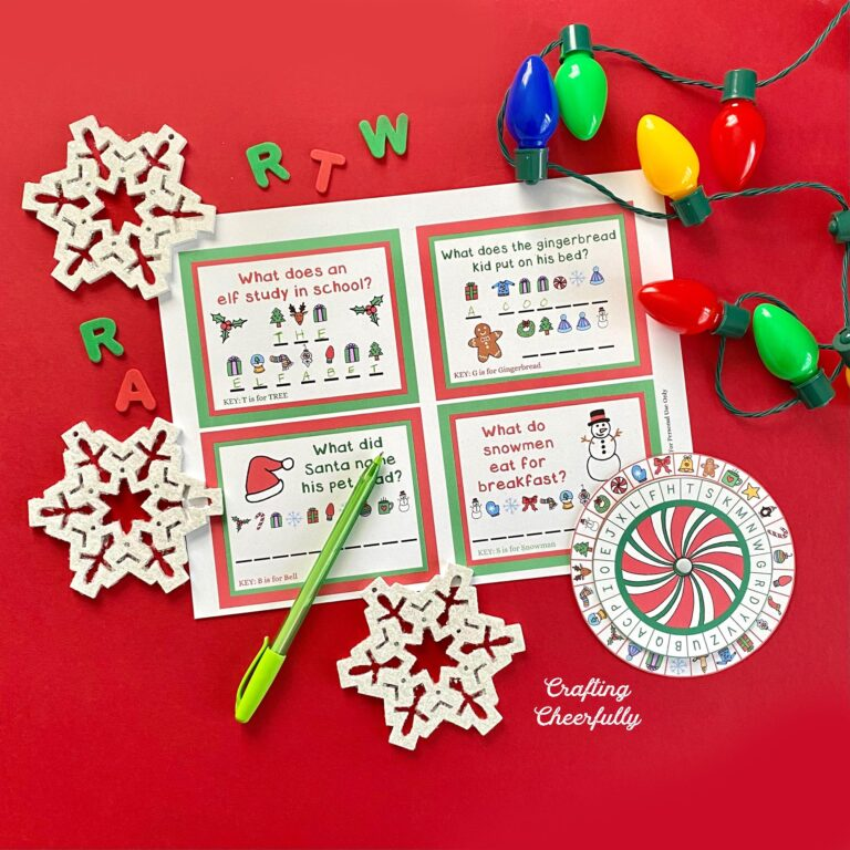 Christmas Secret Decoder Wheel – Free Christmas Printable