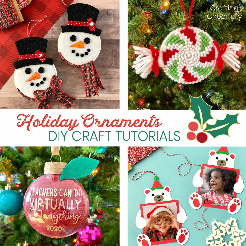 Holiday ornament gift tutorials.