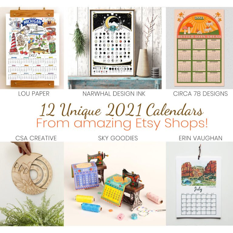 12 Unique 2021 Calendars from Etsy Sellers