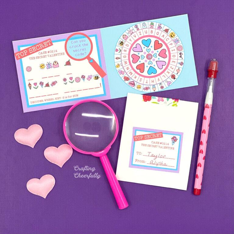 Secret Code Valentines with Decoder Wheel