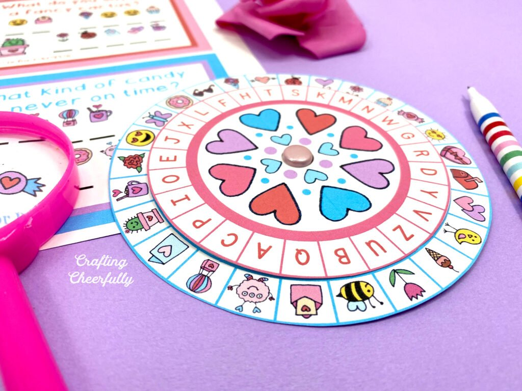 Valentine's Day Printable Decoder Wheel Activity